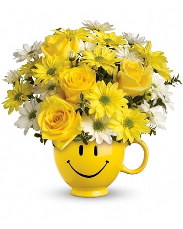 Teleflora's Be Happy Bouquet Deluxe Flower Arrangement