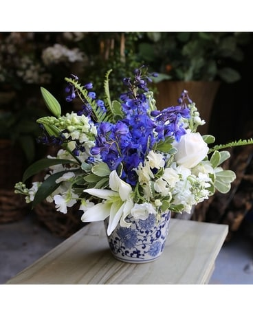 Blue Porcelain Flower Arrangement