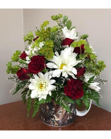 Whitetail Wonder Flower Arrangement