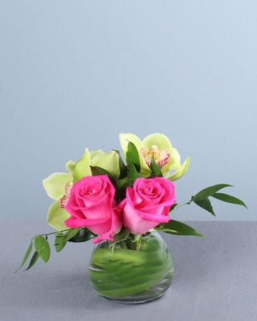 Parakeet Flower Arrangement