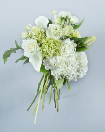Whites and Greens Cut Flower Bouquet Flowers