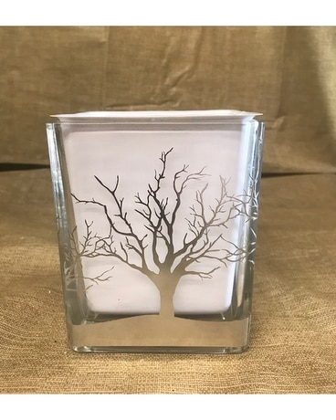 Winter Tree Cube Flower Arrangement