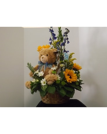 The Beary Best Flower Arrangement