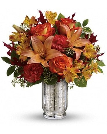 Teleflora's Fall Blush Bouquet Flower Arrangement