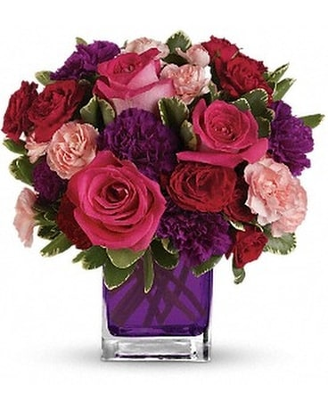 Bejeweled Beauty Cube Flower Arrangement