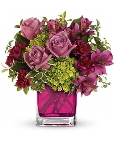 Splendid Surprise Cube Flower Arrangement
