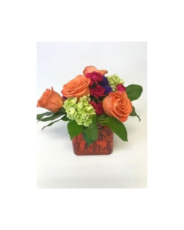 COLORFUL CORAL! Flower Arrangement