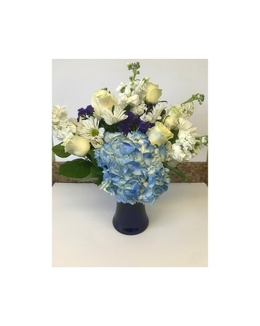 BEAUTIFUL IN BLUE-DELUXE Flower Arrangement