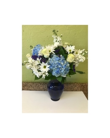 BEAUTIFUL IN BLUE-PREMIUM Flower Arrangement