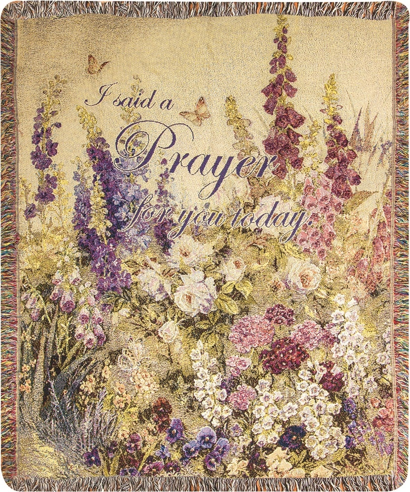 I Said A Prayer For You Tapestry Throw Gifts