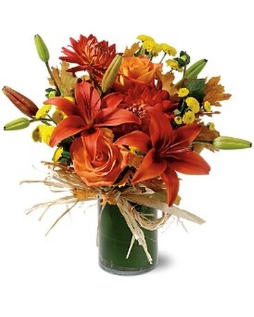 Orange Zest Flower Arrangement