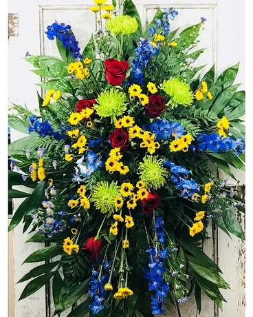 Blue Waltz Flower Arrangement
