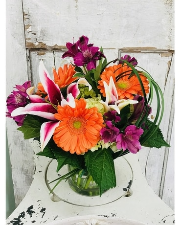 Orange Rush Flower Arrangement
