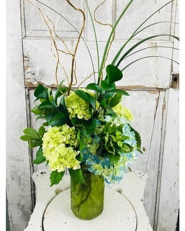 Sea Green Bouquet Flower Arrangement