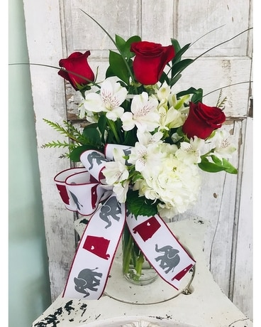 Roll Tide Bouquet Flower Arrangement
