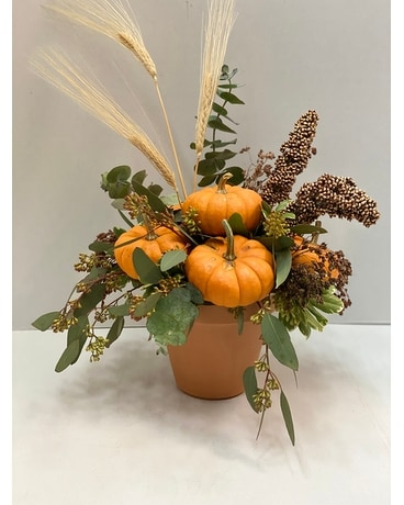 Pumpkin Delight Flower Arrangement