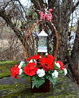 Garden Lantern Flower Arrangement