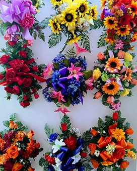 Cemetery Saddle Funeral Arrangement