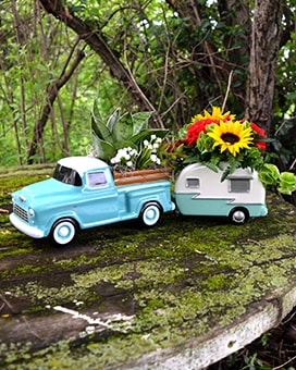 Road Traveler Flower Arrangement