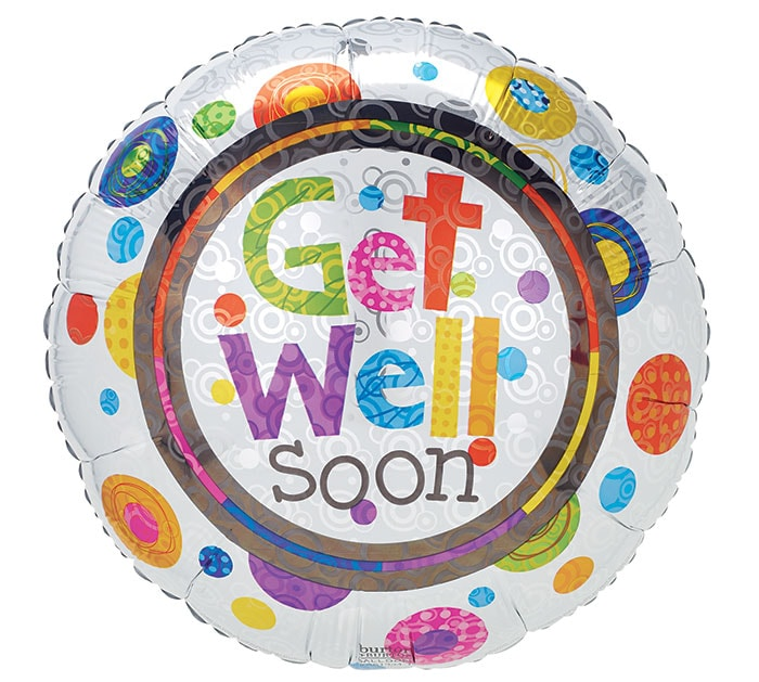 Generic Get Well Soon Mylar