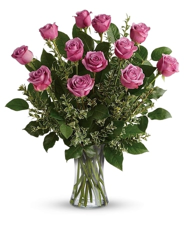 Hey Gorgeous Lavender Roses Flower Arrangement