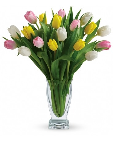 Tulip Treasure Flower Arrangement