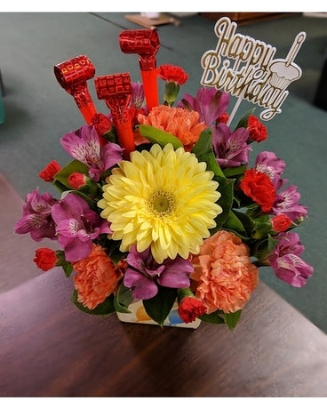 Birthday Cheer Flower Arrangement