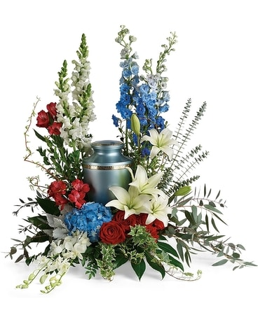 Reflections of Honor Cremation Tribute Sympathy Arrangement
