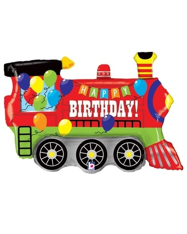 Birthday Party Train Flower Arrangement