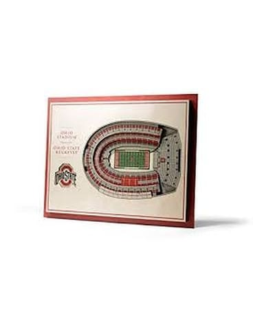 Ohio State 3D Stadium View Flower Arrangement