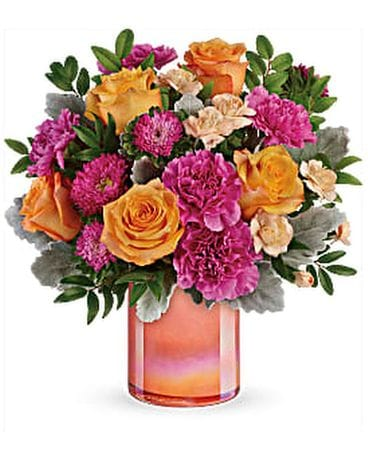 Perfect Spring Peach Bouquet Flower Arrangement