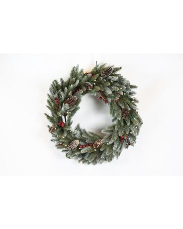Pre-lit Decorated Wreath Gifts