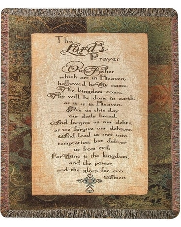 Lord's Prayer Throw Gifts