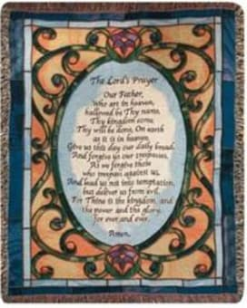 Lord's Prayer Stained Glass Throw