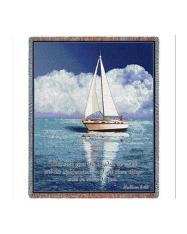 Sailboat Scripture Throw