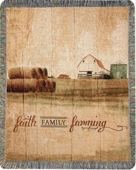 Faith, Family, Farming Throw