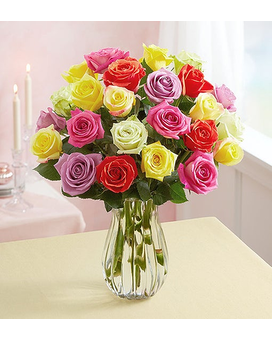 Pastel Impression Roses Flower Arrangement