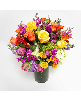 Think Of Me And Smile Flower Arrangement