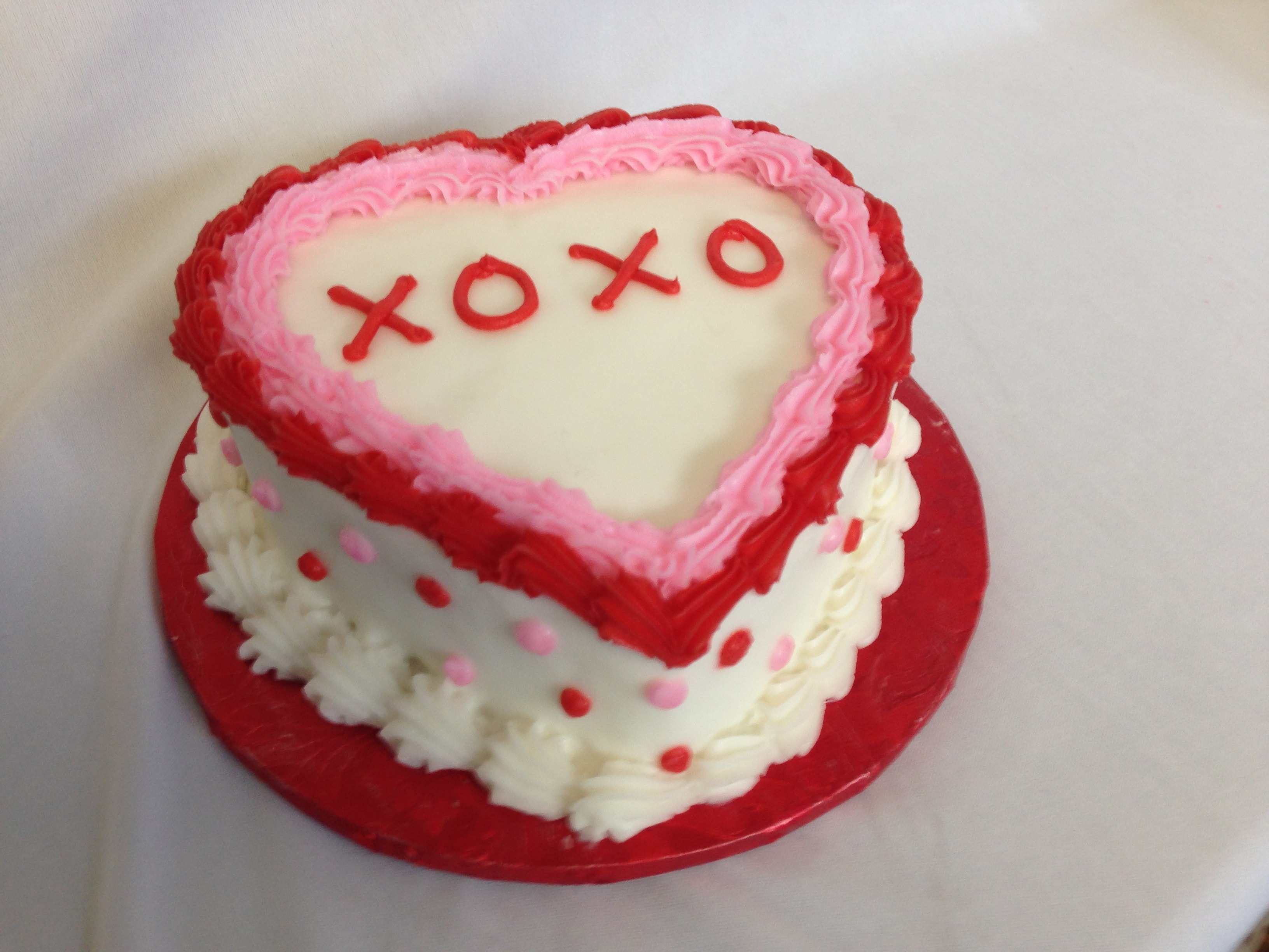 Six Inch Heart Cake 2/12-2/13 only