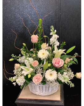 French Garden Basket Flower Arrangement