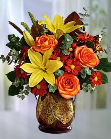Citrus Harvest Flower Arrangement