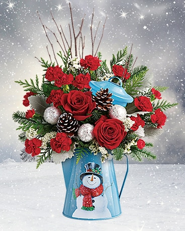 Snowy Daydreams Flower Arrangement