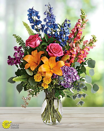 Colors of the Rainbow Flower Arrangement