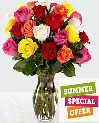 August Rose Sale Flower Arrangement