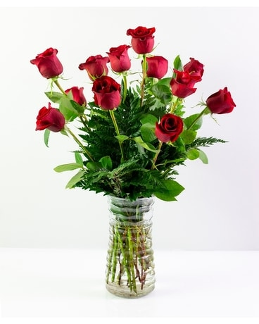 Classic Large Red Roses