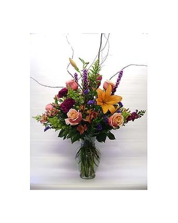 Sun Garden Vase Flower Arrangement