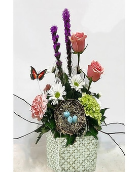 Promise of Spring Flower Arrangement