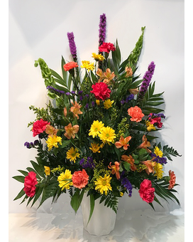 Sunset Reflection Sympathy Design Flower Arrangement