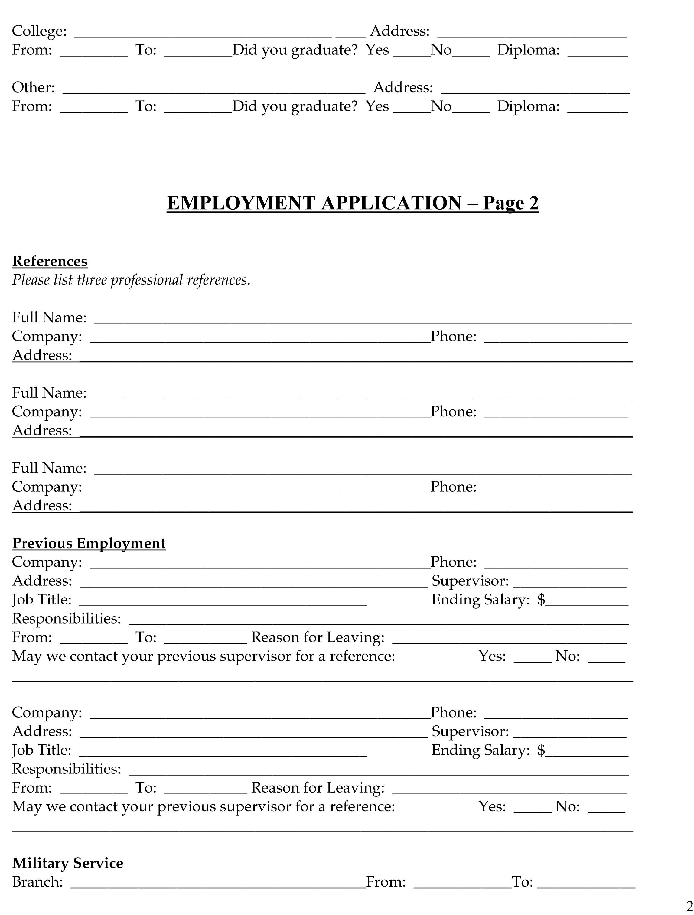 employee application precious memories