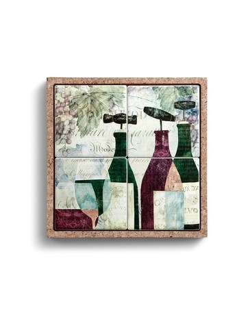 Wine Coaster Set In Cork Tray Gifts